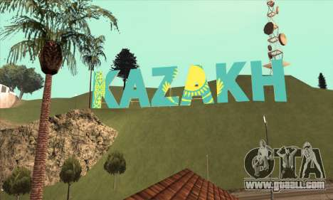 The inscription in KAZAKH instead of Vinewood for GTA San Andreas