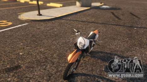 GTA 5 KTM EXC 530 2010 back view
