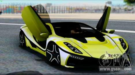 Spania GTA Spano 2016 for GTA San Andreas back view
