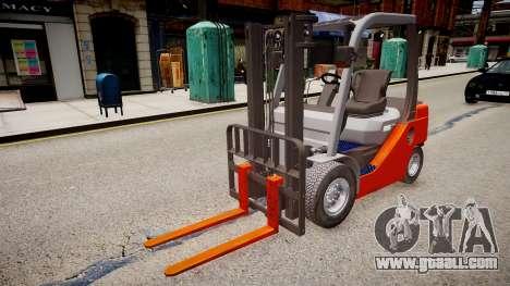 Toyota Forklift (v2.0) for GTA 4 right view