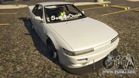 GTA 5 Nissan Silvia S13 Kyoto Rocket Bunny 666 back view
