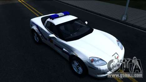 Chevy Corvette Z06 Hometown PD 2006 for GTA San Andreas right view