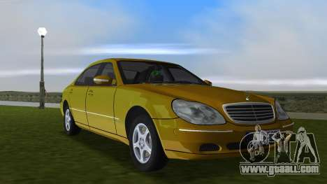 Mercedes-Benz S600 W220 for GTA Vice City inner view