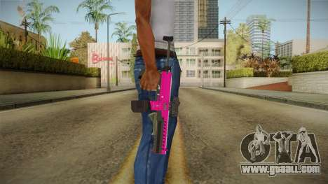 GTA 5 Combat PDW Pink for GTA San Andreas third screenshot
