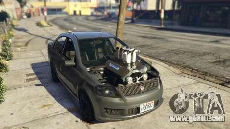 GTA 5 Asea V8 Mod back view