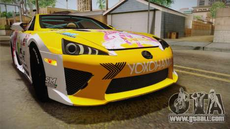 Lexus LFA Beatrice The Orange of ReZero for GTA San Andreas interior