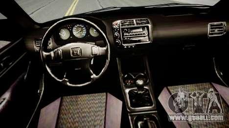 Honda Civic 1996 for GTA 4 inner view
