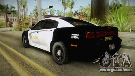 Dodge Charger Sheriff for GTA San Andreas left view