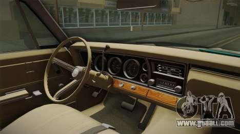 Chevrolet Impala Sport Sedan 396 Turbo-Jet 1967 for GTA San Andreas inner view