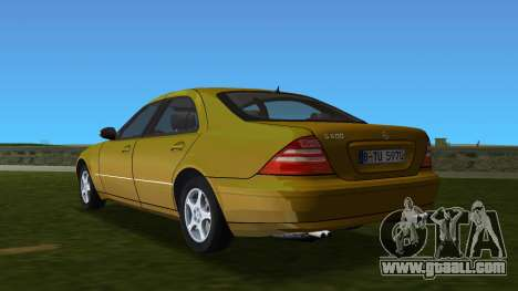 Mercedes-Benz S600 W220 for GTA Vice City back left view