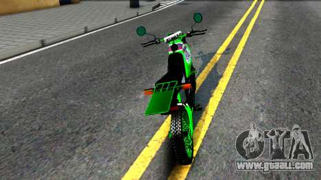 Yamaha DT 175 for GTA San Andreas back left view