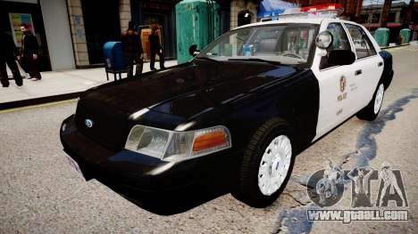 Ford Crown Victoria LAPD for GTA 4 right view