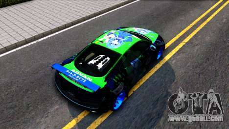 Audi R8 V.1.0 Itasha Yoshino Hermit DAL LWP for GTA San Andreas back view