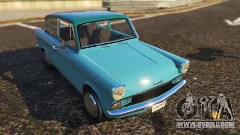 GTA 5 Ford Anglia 1959 from Harry Potter back view