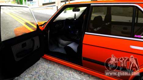 BMW E28 M5 for GTA San Andreas inner view