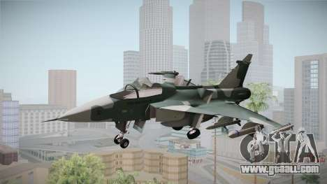 EMB J-39C Gripen NG FX-2 FAB for GTA San Andreas back left view