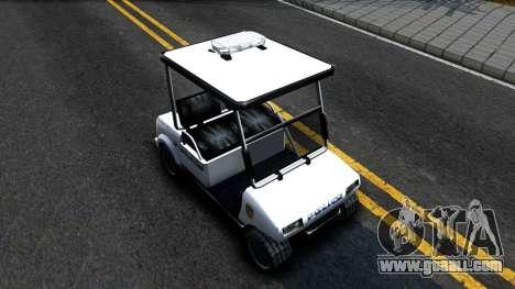 Caddy Metropolitan Police 1992 for GTA San Andreas right view