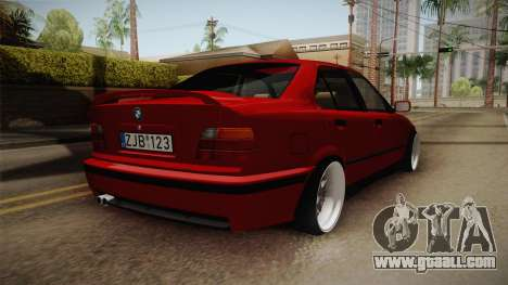 BMW 3 Series E36 Sedan for GTA San Andreas back left view