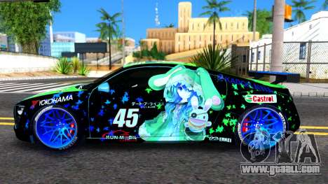 Audi R8 V.1.0 Itasha Yoshino Hermit DAL LWP for GTA San Andreas left view