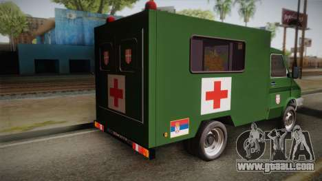 Zastava Rival Military Ambulance for GTA San Andreas left view