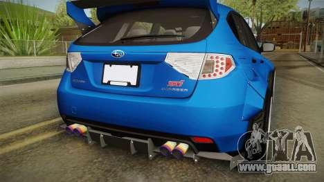 Subaru Impreza WRX STI Rocket Bunny for GTA San Andreas side view
