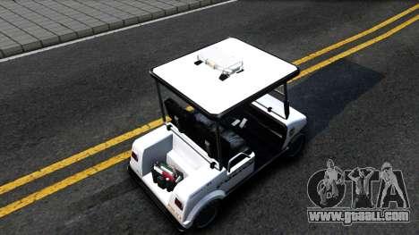Caddy Metropolitan Police 1992 for GTA San Andreas back view