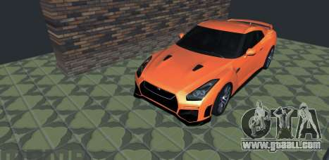 Nissan GT-R 35 Restyling for GTA San Andreas back left view