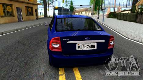 Ford Focus Sedan 2009 IVF for GTA San Andreas back left view