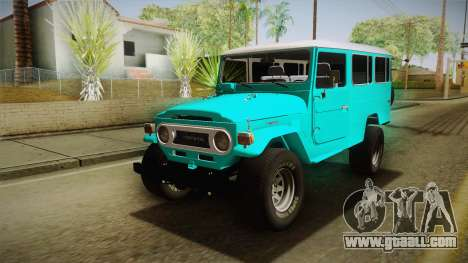Toyota Land Cruise FJ40 Chasis Largo 1978 for GTA San Andreas back left view