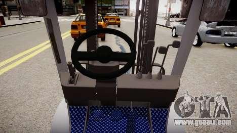 Toyota Forklift (v2.0) for GTA 4 inner view