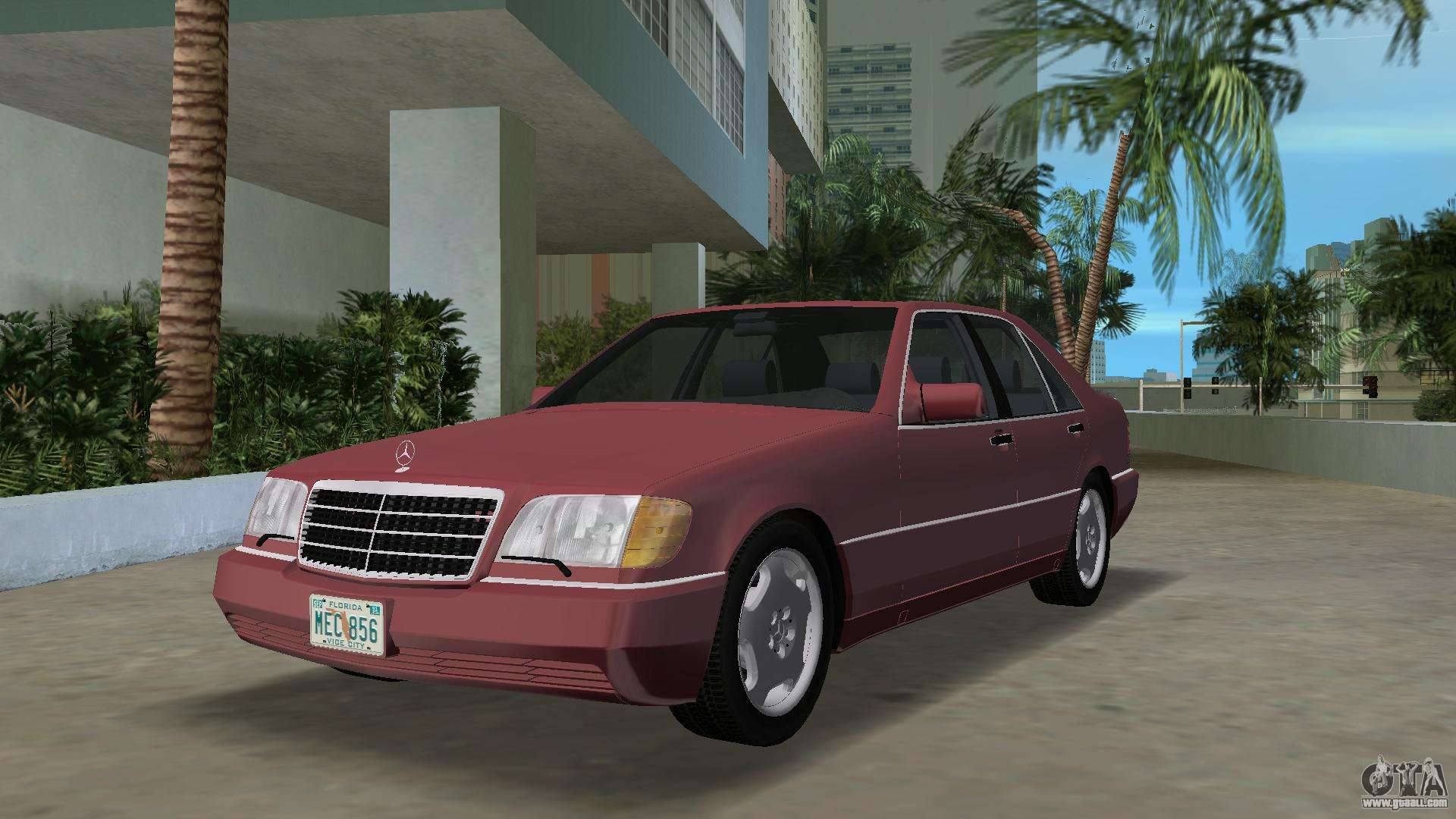 Mercedes benz 400se w140 1991 for gta vice city for Mercedes benz 400 se