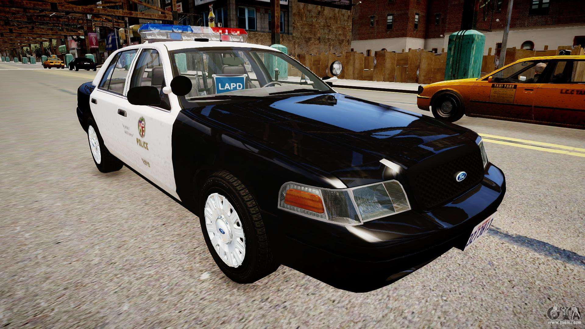 ford crown victoria lapd for gta 4. Black Bedroom Furniture Sets. Home Design Ideas