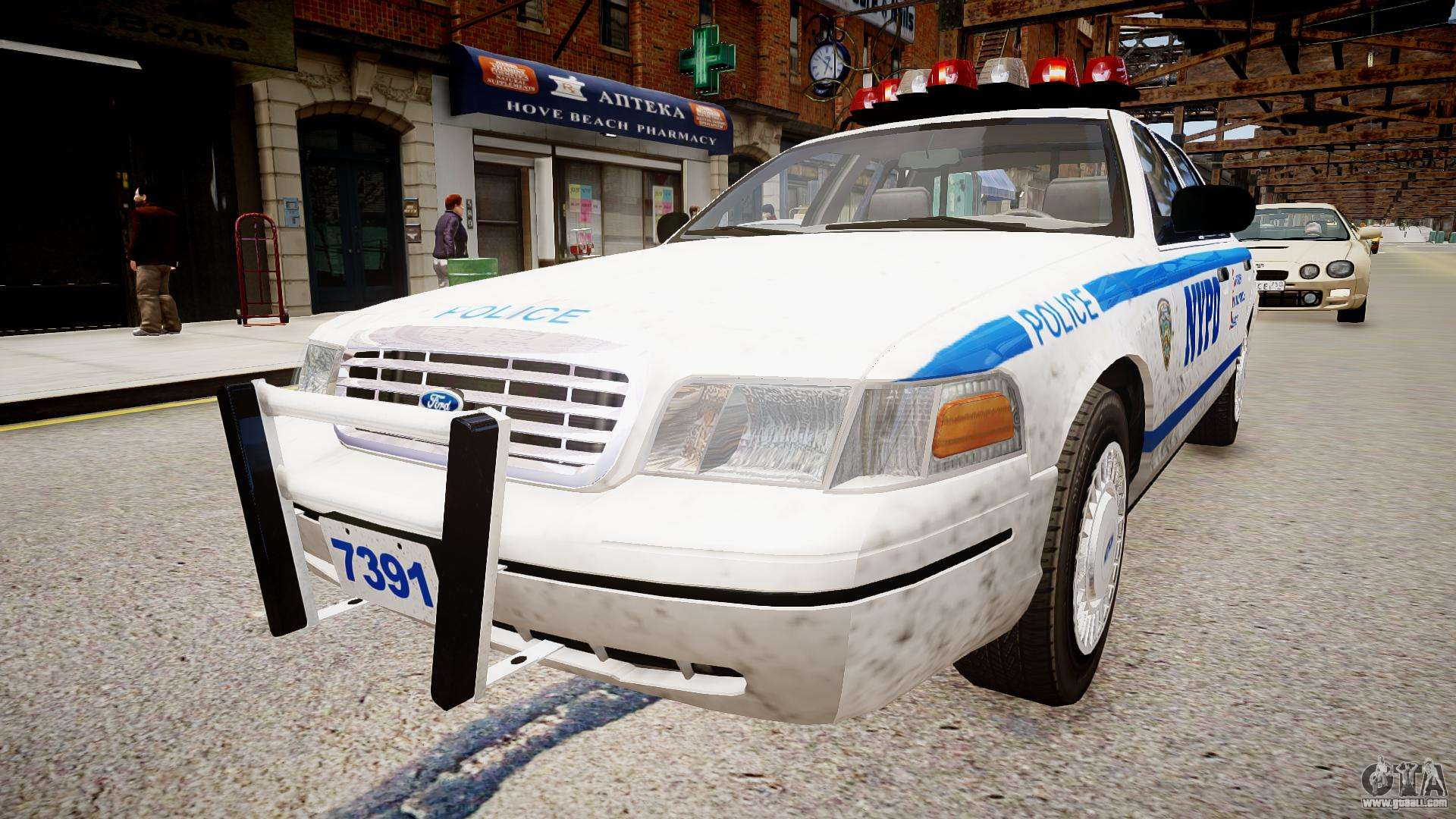 ford crown victoria nypd for gta 4. Black Bedroom Furniture Sets. Home Design Ideas