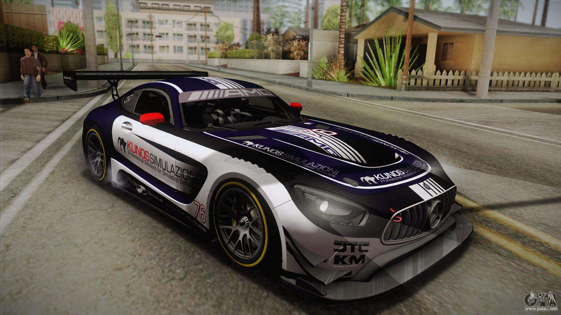 Mercedes benz amg gt3 2016 pj2 for gta san andreas for Mercedes benz gt3