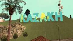 The inscription in KAZAKH instead of Vinewood