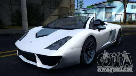 GTA V Pegassi Vacca 9F Roadster for GTA San Andreas
