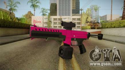 GTA 5 Combat PDW Pink for GTA San Andreas