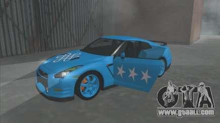 Nissan GTR Egoist 2011 (the Flag of the Kazakh khanate) for GTA San Andreas