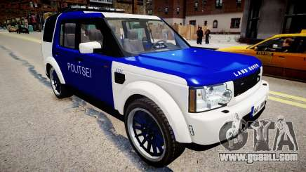 Land Rover Discovery 4 Estonian Police for GTA 4
