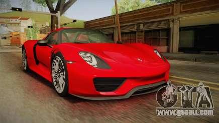 Porsche 918 Spyder 2013 SA Plate for GTA San Andreas
