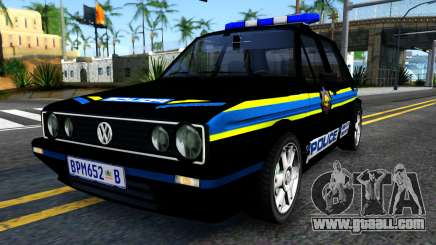 Volkswagen Golf Black South African Police for GTA San Andreas