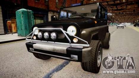 UAZ Hunter Beta for GTA 4 back left view