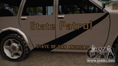 Dundreary Landstalker 1993 SA State Patrol for GTA San Andreas back view