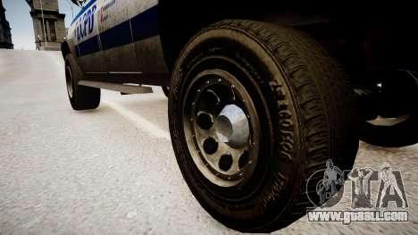Declasse Police Ranger for GTA 4 back view