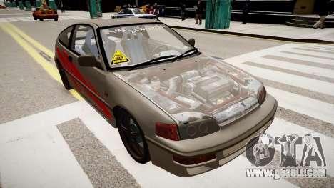 Honda CRX 1992 for GTA 4