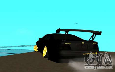 Toyota Chaser JZX 100 for GTA San Andreas back left view