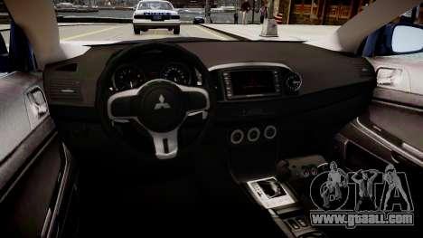 Mitsubishi EVO IX 2009 for GTA 4 inner view