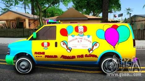 GTA V Vapid Clown Van for GTA San Andreas left view