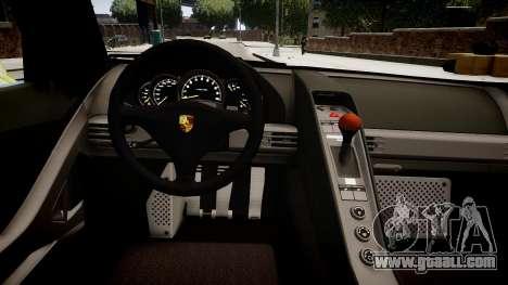Porsche Carrera GT [EPM] for GTA 4 inner view