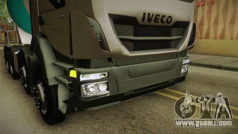 Iveco Trakker Hi-Land Cement Mixer 8x4 v3.0 for GTA San Andreas upper view